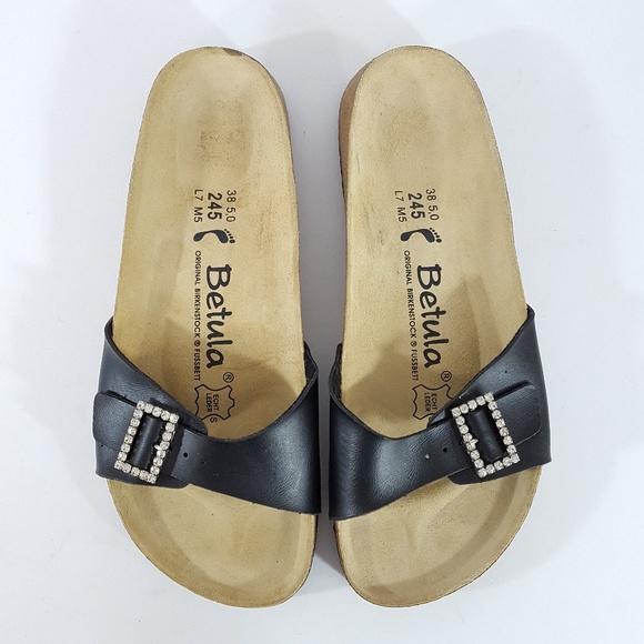 5f51845137a95a Birkenstock Shoes -  Birkenstock  Betula Black Rhinestone Slide Sandal